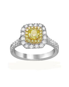 18k Fancy Yellow Diamond Ring