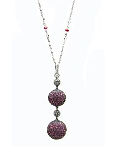 Pave Ruby Pendant and Chain