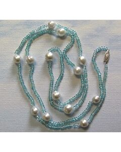 Apatite & Cultured South Sea Pearl Necklace