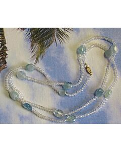 Moonstone & Aquamarine Necklace