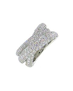 Pave Diamond Crossover Ring