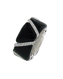 Diamond & Enamel Stretch Ring