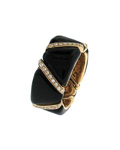 Rose Gold Diamond & Enamel Stretch Ring