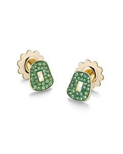 Tsavorite Puzzle Earrings