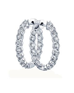 Classic Diamond Hoop Earrings from Eloquence