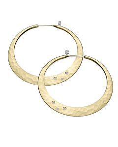 14 K Eclipse Earrings with diamonds from Toby Pomeroy