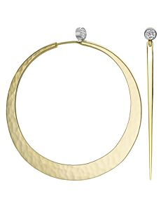 Larger Eclipse Earrings in 14K gold by Toby Pomeroy