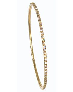 Estate Slip-on Diamond Bangle Bracelet