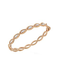 Rose Gold New Barocco Diamond Bangle