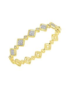 Roman Barocco Diamond Bangle Bracelet
