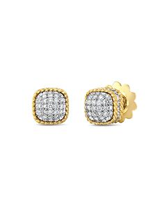 New Barocco Diamond Stud Earrings
