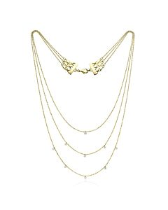 14k Gold Triple Tier Diamond Necklace