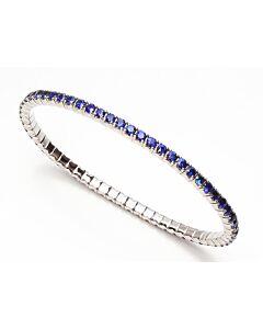 Flexible Sapphire Bangle Bracelet