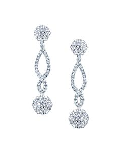 Coronet Diamond Dangling Earrings