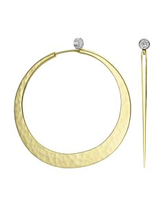 Toby Pomeroy's 18K gold Eclipse Earrings with Diamonds