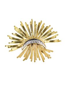 Estate Collection 14k gold pin with diamonds
