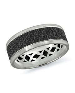 Men's Carbon Fiber & Gold Wedding Band