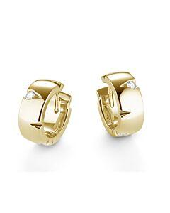 Cuts Collection Diamond Hoop Earrings