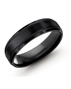 Men's All Black Cobalt Wedding Band