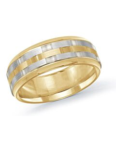 Men's 14k Yellow & White Gold Men's Wedding Band