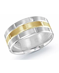 Men's 9 mm Two Tone Wedding Band