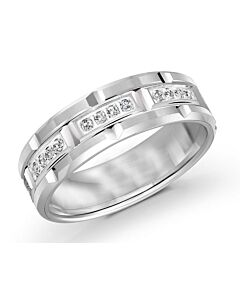 White Gold Diamond Men's Wedding Band