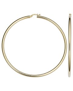 14k Gold 3 Inch Hoop Earrings