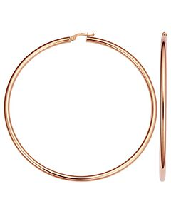 14k Rose Gold 3 Inch Hoop Earrings