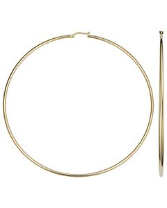 14k 3.5 Inch Hoop Earrings