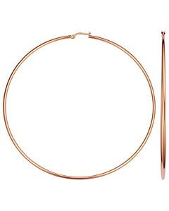 14k Rose Gold 3.5 Inch Hoop Earrings