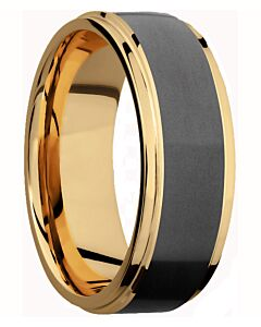 Elysium 18k Gold & Diamond Matrix Men's Wedding Band