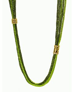 Au Silk Necklace in Shades of Green