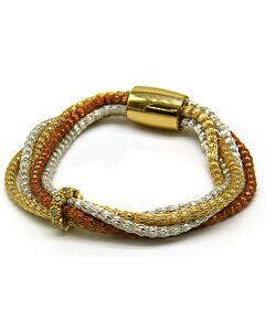 Tricolor Au silk bracelet
