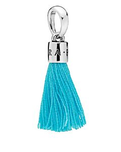 pandora sterling silver turquoise tassel charm