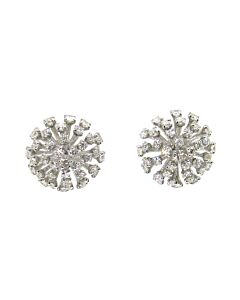 18k Diamond Dome Earrings