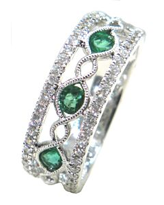 Lovely Emerald and Diamond Ring