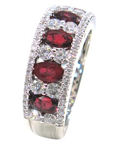 "Ruby and Diamond ""Window"" Ring"