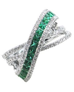 Emerald and Diamond Crisscross