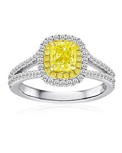 Roman & Jules Stunning Yellow Diamond Ring