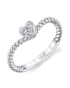 Oh So Sweet Diamond Cluster Heart Ring