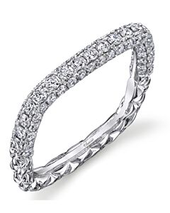 One Carat Square Pave Diamond Ring