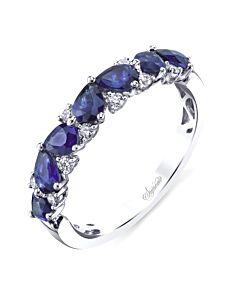 Pear Shaped Sapphire & Diamond Ring