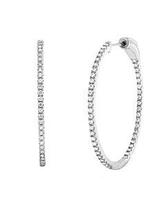 Roman & Jules Thin Diamond Hoops