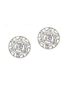 18k Filigree Diamond Studs