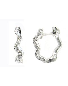 Wavy Diamond Hoop Earrings