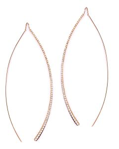 Rose Gold Diamond Front/Back Earrings