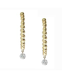 Pierced diamond hoop earrings