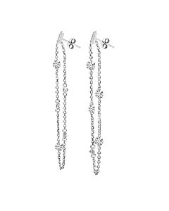 Brevani Pierced Diamond Earrings