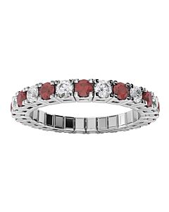 Diamond & Ruby Expandable Spryng Ring