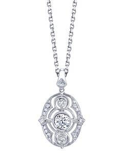 18k Gold Victorian Style Diamond Pendant